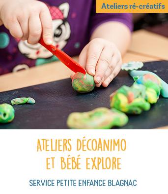 Ateliers Décoanimo et Bébé explore