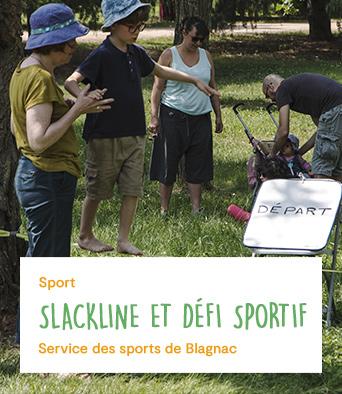 Slackline et défi sportif